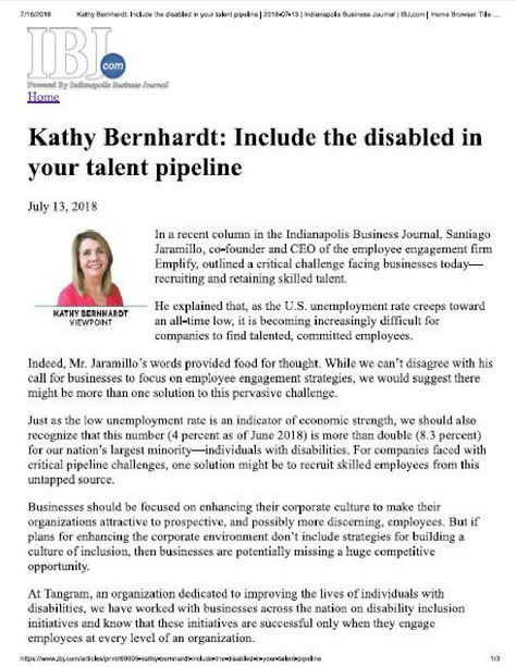 image of IBJ article with Kathy Bernhardt's headshot
