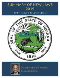 2019 Summary of New Laws - Sen. Merritt