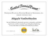 Abby VanDerHeyden, CFP® | CFP Certificate | Bedel Financial