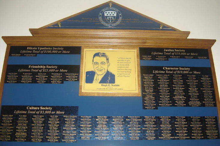 LifeTime Donor Wall