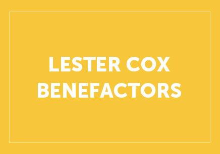 Lester Cox Benefactors Button