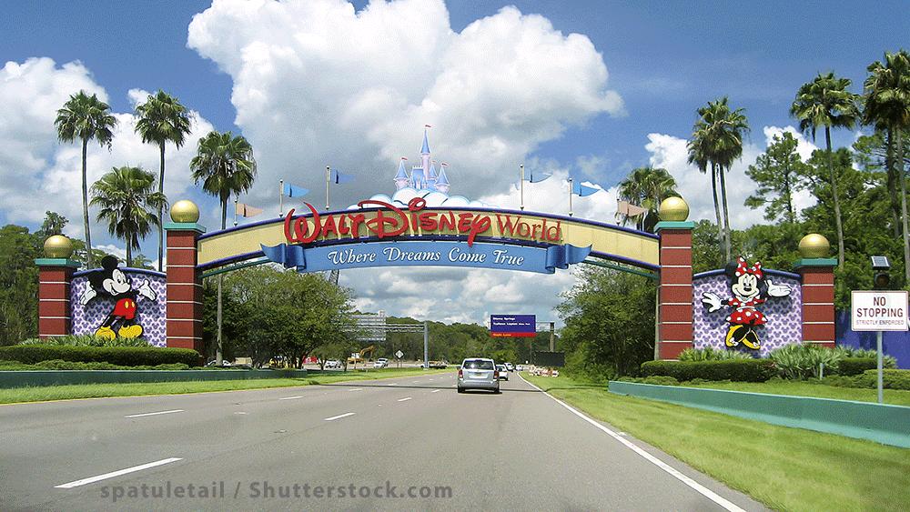 Image of an entrance to Walt Disney World