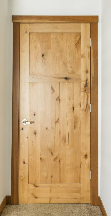 ALDER DOOR WITH SAPPY CHERRY SQUARE STYLE TRIM
