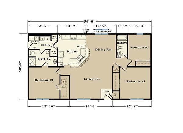 Allen Towne JR22C Floor Plan