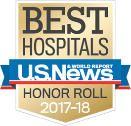 Image of a shield with Best Hospitals written on it
