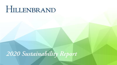 HILLENBRAND RELEASES 2020 SUSTAINABILITY REPORT