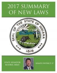 2017 Summary of New Laws - Sen. Bray