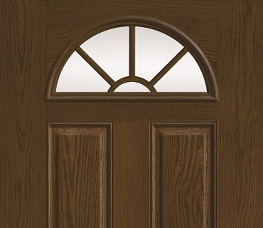 THERMA TRU SUNBURST WOOD GRAIN DOOR