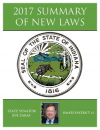 2017 Summary of New Laws - Sen. Zakas