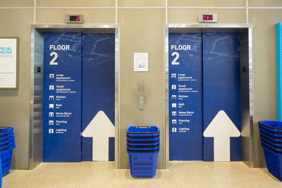 Wayfinding Elevator Graphics