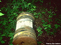 Illegally Dumped Cyanide Container image