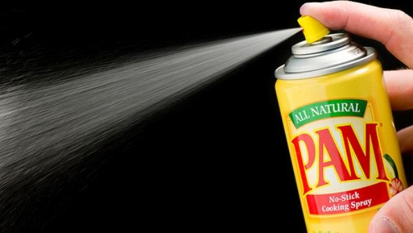 PAM spraying with black background