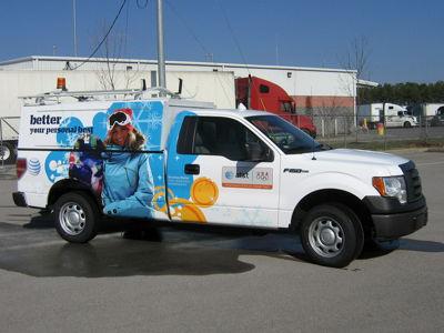 Service Truck Full Wrap
