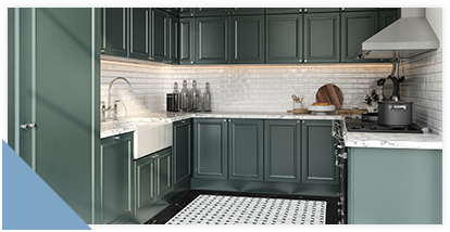lacquers green cabinets