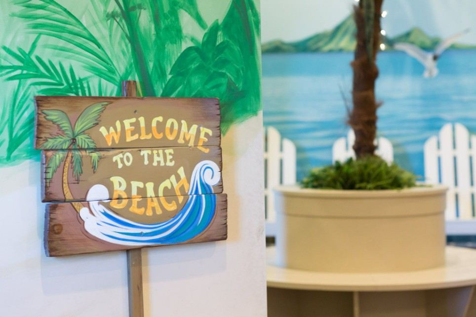 Image of a welcome sign that says Welcome to the Beach