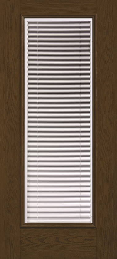 THERMA TRU FULL GLASS WITH BLINDS WOOD GRAIN DOOR