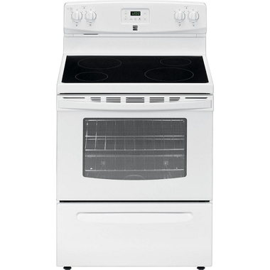 KENMORE 30″ 4.9 CU. FT. ELECTRIC RANGE- WHITE