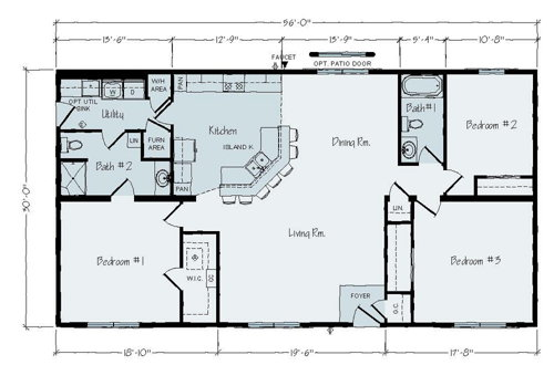 Floorplan of Allen Towne Series