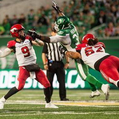 Image for Nick Arbuckle steps up for Calgary, Stampeders beat Riders