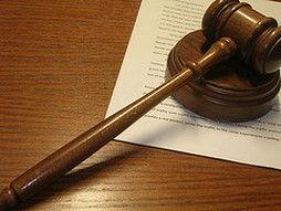 gavel on legal paper