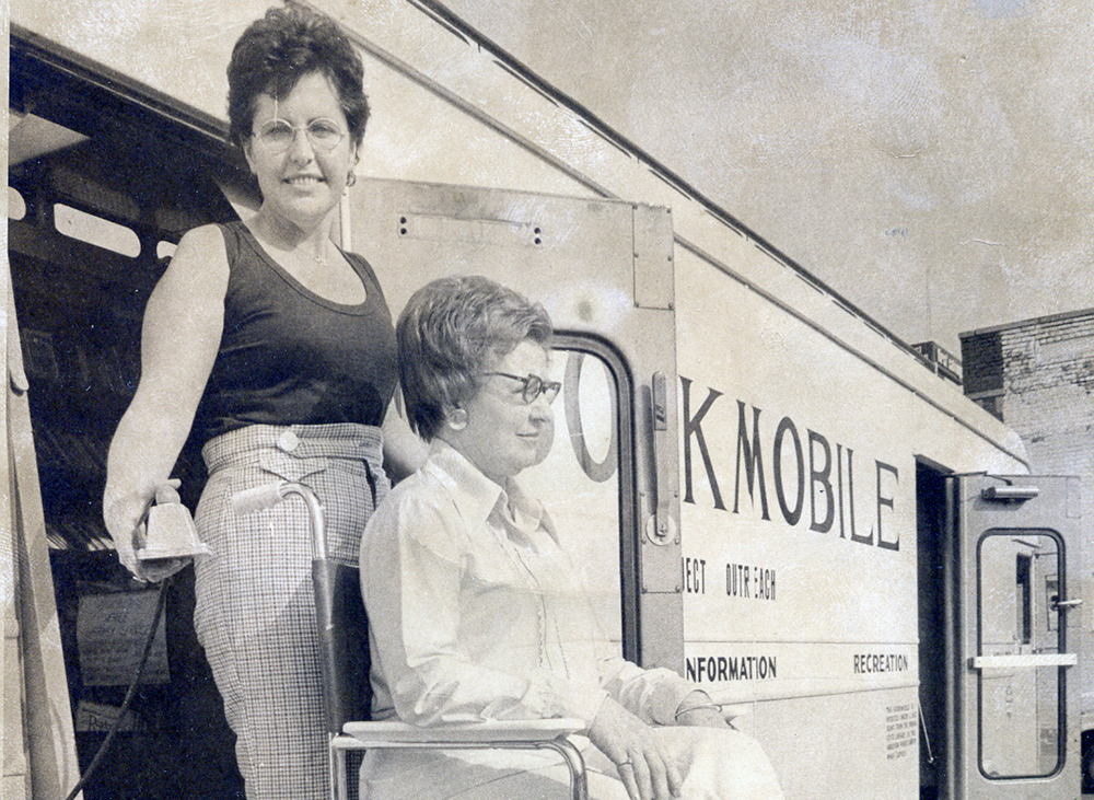 Library Bookmobile in the 1970s