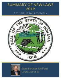 2019 Summary of New Laws - Sen. Jon Ford