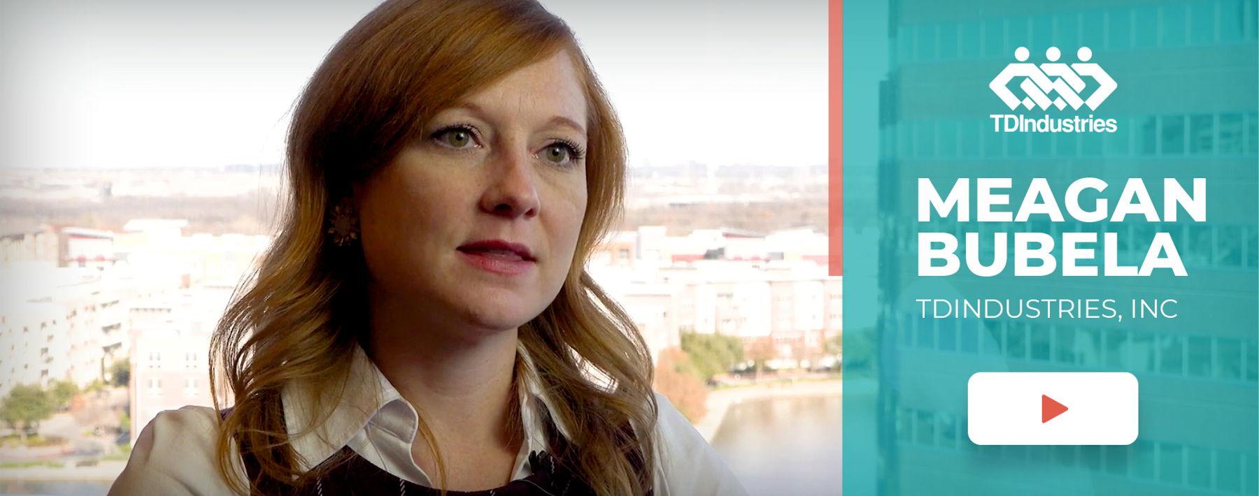 Image of TD Industries speaking in a testimonial video