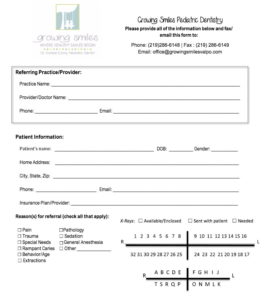 Image of PDF of the Referral Form