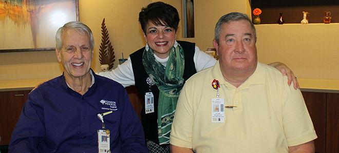 Three JMH volunteers