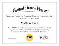 Mat Ryan, CFP® | CFP Certificate | Bedel Financial