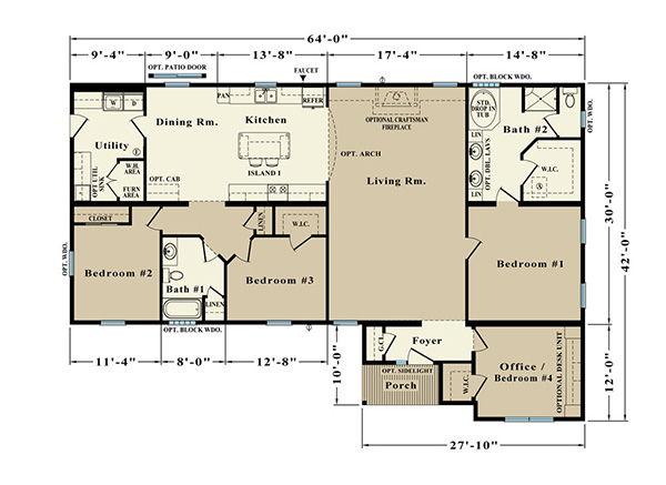 Roosevelt EJR-4A Floor Plan