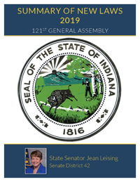 2019 Summary of New Laws - Sen. Leising