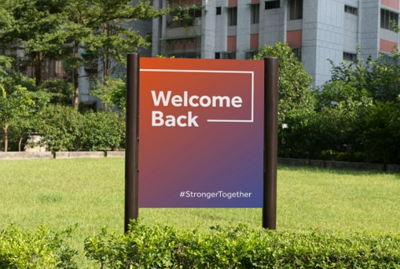 Welcome Back Outdoor Signage