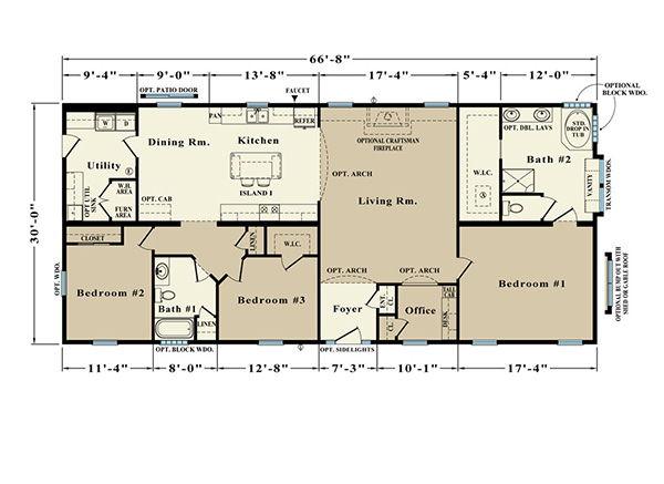 Roosevelt JR-4 Floor Plan