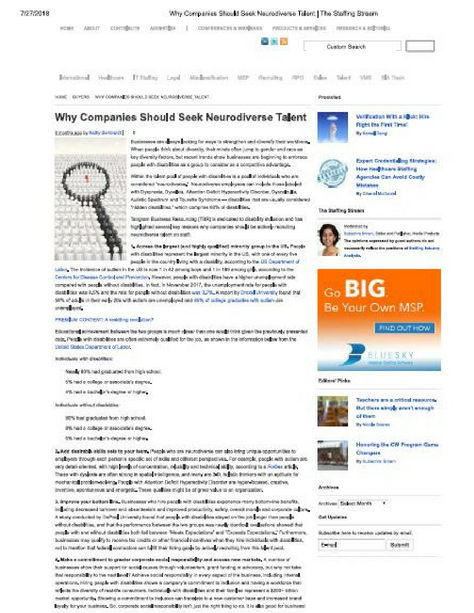 image of staffing stream article with a magnifying glass graphic