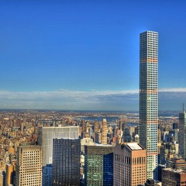 NYC's tallest residential building and the first to use 14,000 PSI white concrete