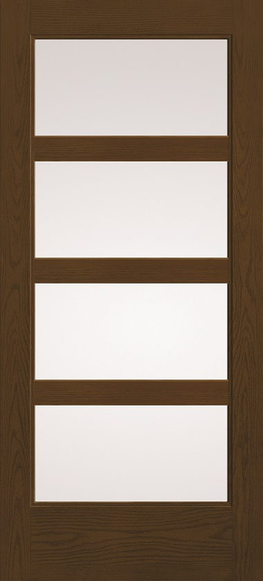THERMA TRU FOUR LIGHT WOOD GRAIN DOOR