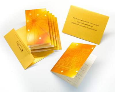Metallic Accordion Brochure and Invitation