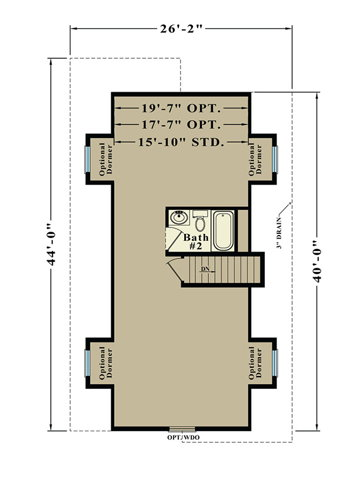 Second Floor Blueprint for Huron