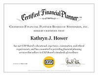 Kathy Hower, CFP | CFP Certificate | Bedel Financial