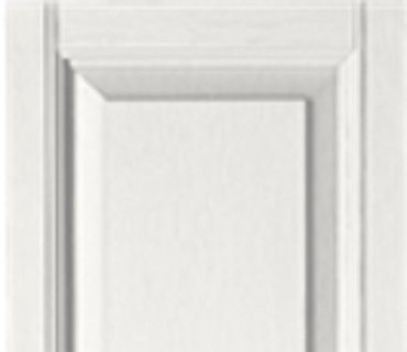 STANDARD RAISED PANEL SHUTTER - WHITE