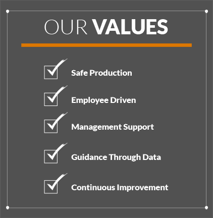 Image with our Values on it