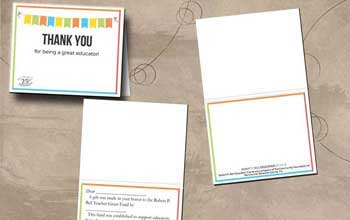 Bell Grant Thank You Card