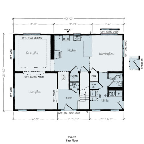 Floorplan of Palm Terrace