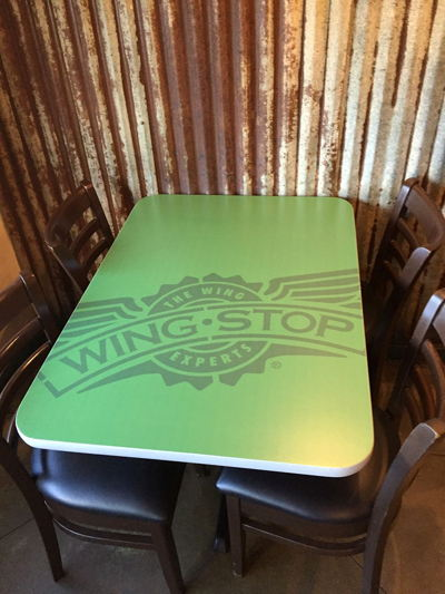 Wingstop Table Top Graphics