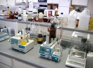 lab with equipment