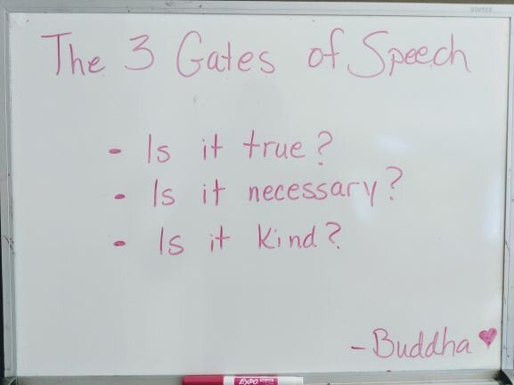 Buddha Quotes on whiteboard