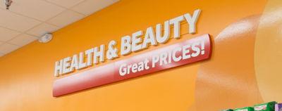 Foam Letter Health & Beauty Department Sign