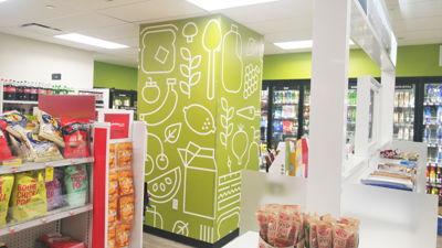 CVS Food Graphics Wall