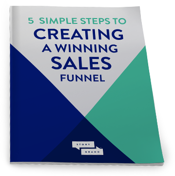 5 steps sales funnel downloadable graphic cover